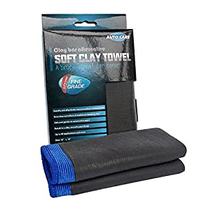 Clay Towel, AutoCare Fine Grade Microfiber Clay Bar Towel Clay Bar Cloth Towel Mitt Automotive Detailing Towel Wash Mitt Clay Bar Alternative for car detailing, Creative Gift--Blue, 1 Pack