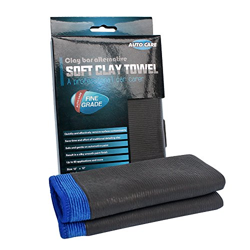 Clay Bar Towel, AutoCare Fine Grade Microfiber Clay Towel Automotive Detailing Towel Clay Bar Alternative for Car Detailing, Creative Gift-Blue, 1 - 2 X Enhancer Gloss