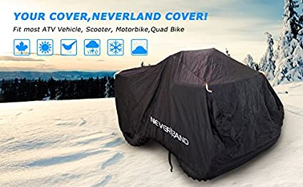 NEVERLAND Waterproof 210D Oxford ATV Quad Cover Wheel Car Black 78 x 37 x 41 Inch