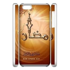 Durable Phone Case 3D iphone6 Plus 5.5 3D Cell Phone Case White Sbkus Ramadan Plastic Durable Cover