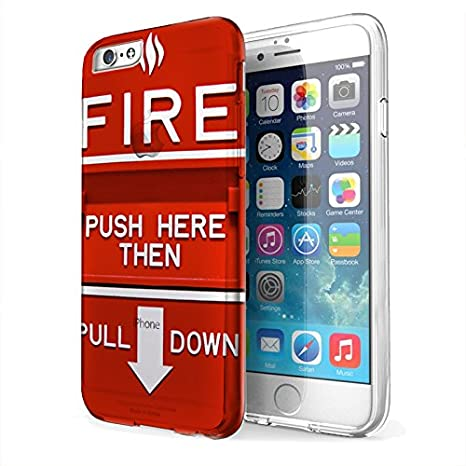 Amazon.com: Rojo Alarma de incendio – iPhone 6 transparente ...