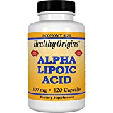 Healthy Origins Alpha Lipoic Acid Multi Vitamins, 100 Mg, 120 Count Review