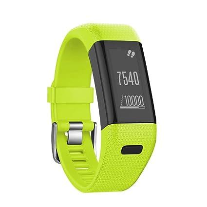 Samlike - Pulsera deportiva de recambio de silicona para el reloj inteligente Garmin Vivosmart HR +