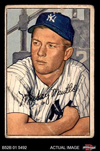 1952 Bowman # 101 Mickey Mantle New York Yankees (Baseball Card) Dean's Cards 1.5 - FAIR Yankees