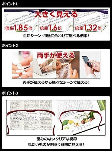Hazuki Loupe Magnifier Compact Clear Lens 1.6 X Blue Light 35% Cut (Black) by Hazuki (Image #3)