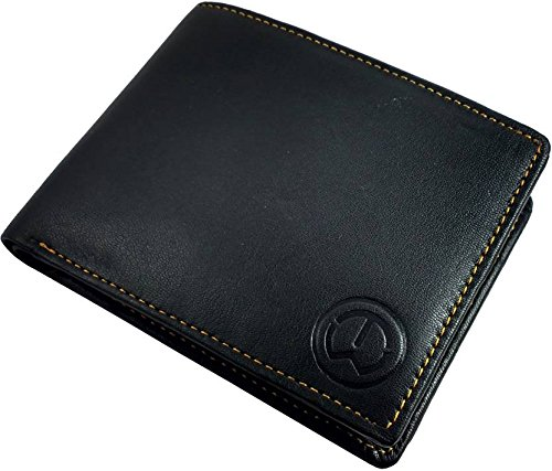 TnW Men Black Genuine Leather Wallet  3 Card Slots  Wallets