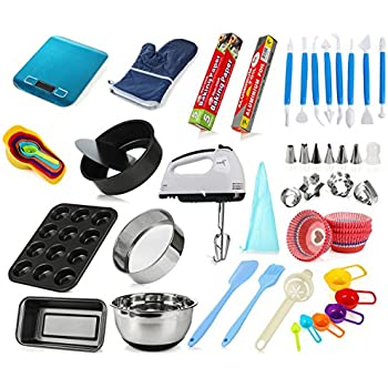 Amazon.com: MCK Complete Cake Baking Set Bakery Tools for