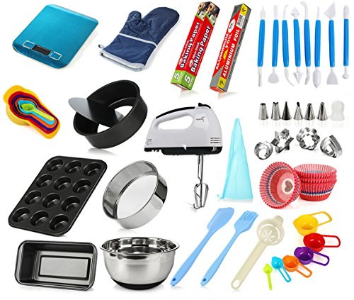 DeElf Cake Baking Set for Adult Beginners Starting Kit - Complete Bakery Tools Set by DeElf