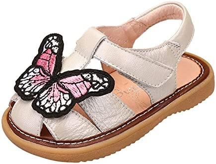Genda 2Archer Baby Girls Toddler Cute Genuine Leather Mary Jane Squeaky Shoes Baby First Walkers