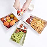 KathShop Nordic Style Double Irregular Storage Tray Fruit Nuts Fried Food Storage Tray Living Room Kitchen Incorporated Fruit Organizer