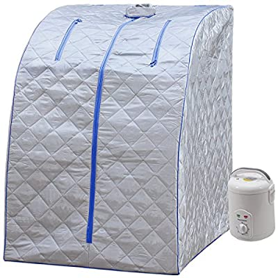 Durherm Portable Personal Therapeutic Spa Home Steam Sauna Weight Loss Slimming Detox (Blue Outline) : Garden & Outdoor