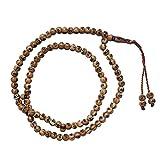 Caramel Brown Plastic Tasbih with Allah Muhammad Beads 7mm Muslim Dhikr Prayer Beads Sibha