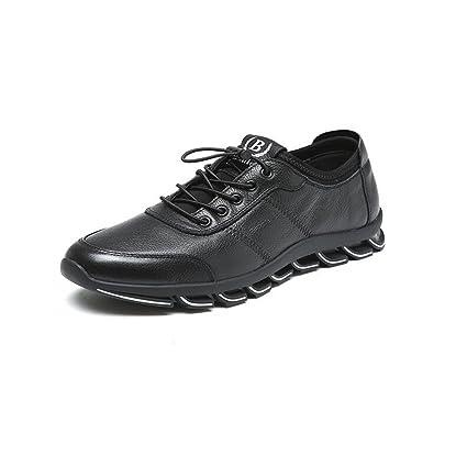 Zapatos para hombre CJC Holiday Smart Casual Mocasines Hombre Cuero Conducción Suela de Goma (Color
