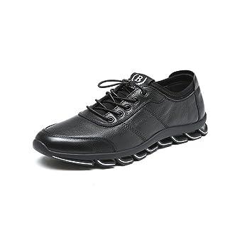 Zapatos para hombre CJC Holiday Smart Casual Mocasines Hombre Cuero Conducción Suela de Goma (Color : Black, Tamaño : EU42/UK8.5): Amazon.es: Hogar