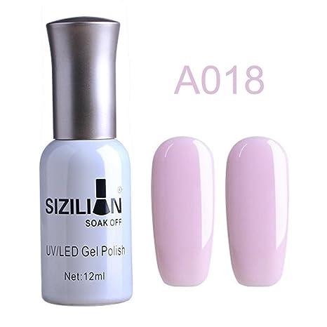 Amazon.com: huphoon 0.4 fl oz esmalte de uñas colorido y ...