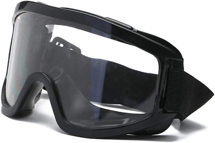 geringes Gewicht Unisex widerstandsf/ähig weiches Nasenst/ück Schutzbrille spritzwassergesch/ützt Winddicht staubdicht Anti-Beschlag-Gl/äser Motorradbrille