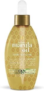 OGX Hydrate + Marula Oil Serum Elixir, Gold 3.8 Fl Oz