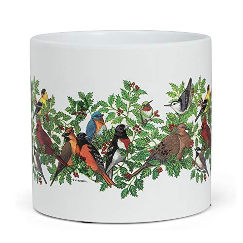 Abbott Collection 27-PL-WR02-LG Lg Birds in Holly Planter-6.5