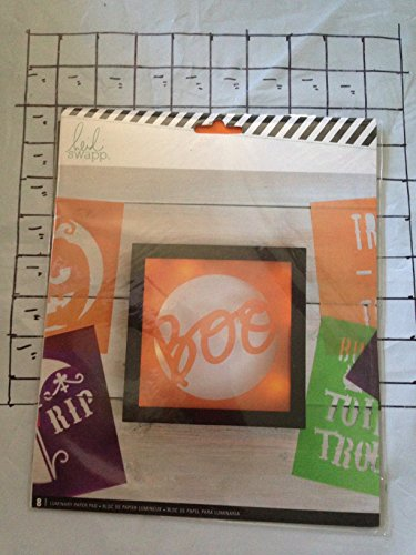 8 Luminary Heavy Parchment paper cut out stencil pads for Heidi Swapp 8