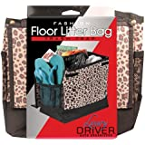 Luxury Driver 12484 Leopard Fashion Floor Litter Bag Trash Trap Organizer