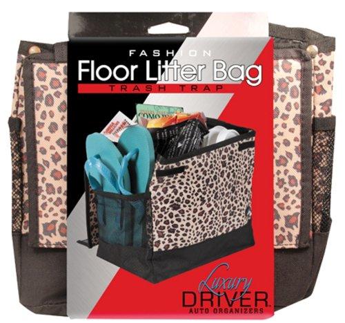 Luxury Driver 12484 Leopard Fashion Floor Litter Bag Trash Trap Organizer ()