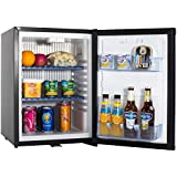SMETA 110V 12V Portable Refrigerator Truck RV Compact Beverage Cooler with Lock,1.2 cu ft