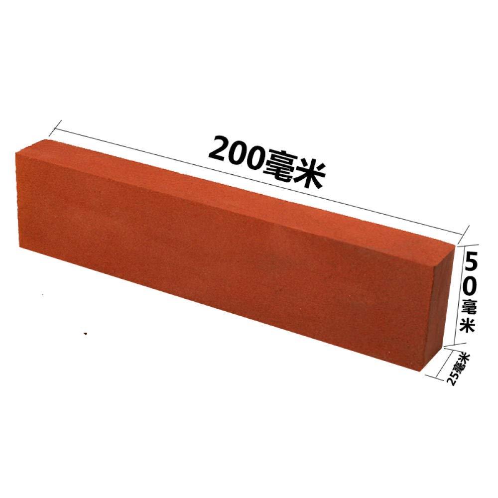 HJJDM Piedra de afilar corind/ón rojo pulido grueso cuchilla abierta hogar cuchillo de cocina pulido piedra de pulido gruesa industrial malla m/últiple opcional @ 80 malla