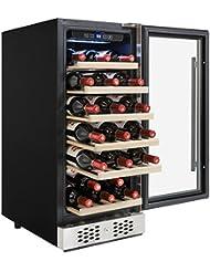 AKDY 30 Bottles Single Zone Adjustable Temperature Compressor Function Freestanding Wine Cooler Cellar