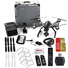 YUNEEC Q500 4K Typhoon Quadcopter with CGO3-GB Camera and Aluminum Case includes SanDisk 64GB Extreme Pro microSD + High Speed Card Reader + 2 Pairs White Propeller Blades + Yuneec Wizard & More!!!