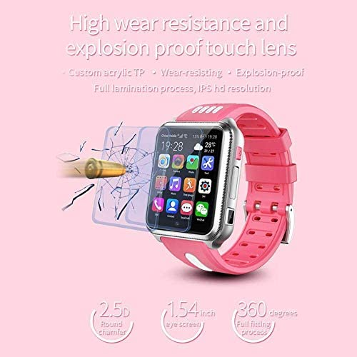 Smart Watches for Kids, GPS LBS Tracker 4G Phone Watch with Dual Camera/SIM Card Slot for Call/Message/WeChat Video Voice Chat/Game/WiFi 514ocyYNoUL