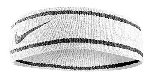Nike Dri-Fit Headband (One Size Fits Most, White/Black) Nike Nylon Headband