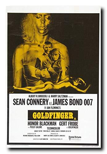 Mile High Media Goldfinger Movie Poster 24x36 Inch Wall Art Portrait Print - 007 James Bond - Sean - Poster Movie Goldfinger