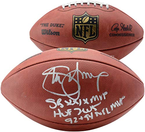 (Steve Young San Francisco 49ers Autographed Duke Pro Football with Multiple Inscriptions - Limited Edition #1 of 8 - Fanatics Authentic Certified)