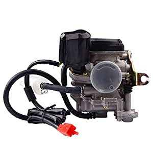 R REIFENG 50cc Scooter Carburetor GY6 Four Stroke with Jet Upgrades Scooter Moped ATV