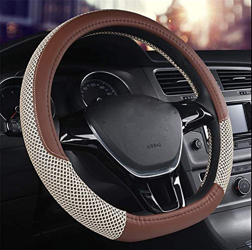 ZHANGYC of The Type of Tuna Loins of Leather Steering Wheel Slip Coverage Fashion Breathable