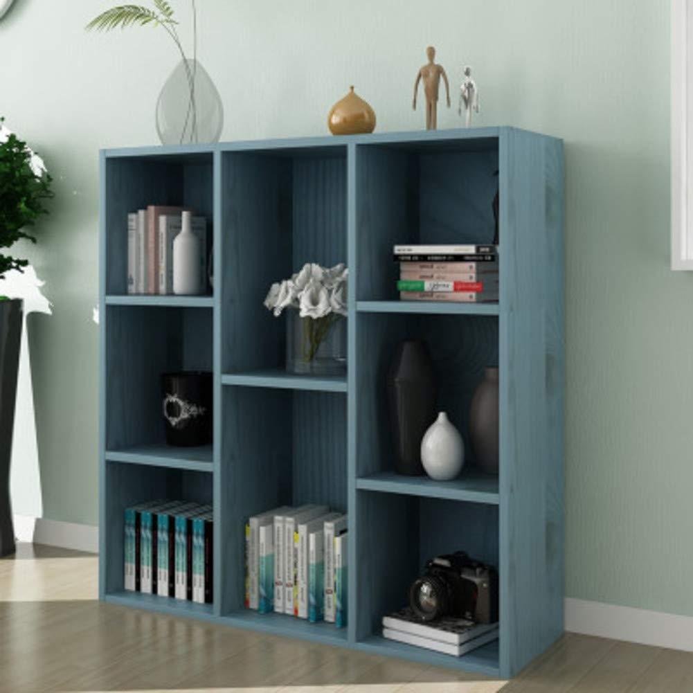 K 74x24x80cm(29x9x31inch) 8-Cube Floor Standing Bookcase, Multi-Layer Storage Cabinet, Simple Storage Rack Display Shelves Bookshelf Organizer for Office-q 96x24x80cm(38x9x31inch)