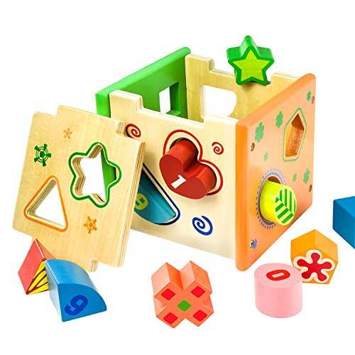 BATTOP Wooden Shape Sorter Toy product image
