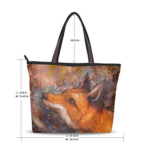 Peinture Fourre Épaule À Fox Grand Alaza Sac tout Main qwd0wS