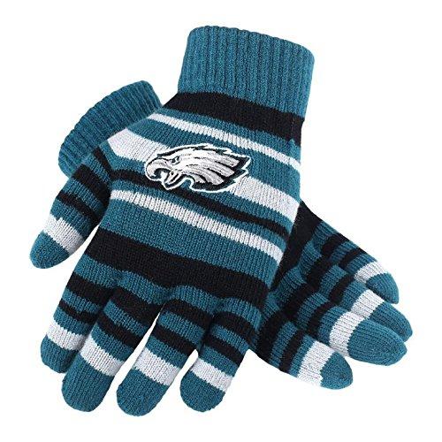 NFL Football Team Logo Stretch Gloves - Pick Team (Philadelphia Eagles)