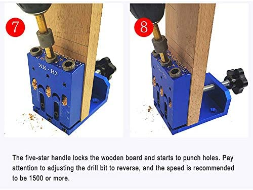 APROTII XK-R3 Woodworking Inclined Hole Locator Die Steel Drill Sleeve Heat Treatment HRC45°Artifact Puncher Anodizing Adjustable Handl