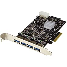 StarTech.com PEXUSB314A2V USB 3.1 PCI-E Card – 4 Port – 4x USB-A with Two 10Gbps Dedicated Channels – Expansion Card, Black