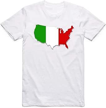 White Italy Flag T-Shirt For Men