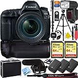 Canon 5D Mark IV EOS Full Frame DSLR Camera Triple Battery &...