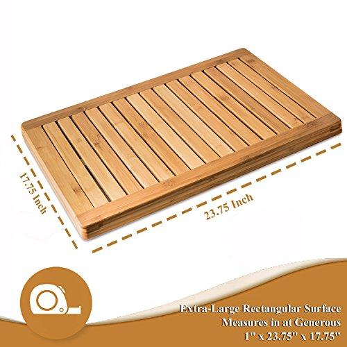 Bamboo Bath Mat Shower Floor Mat Non Slip, Made Of 100