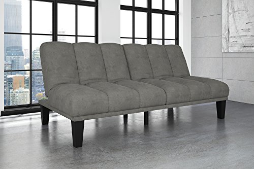 Hamilton Estate Premium Sofa Futon Sleeper Comfortable Plush Upholstery, Rich Gray (Sale Turn Couches That Beds For Into)