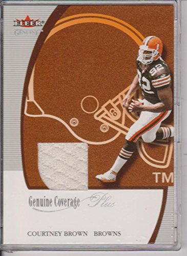 Brown Nfl Genuine Football Jersey - 2001 Fleer Genuine Courtney Brown Browns Game Used Jersey Football Card #NNO