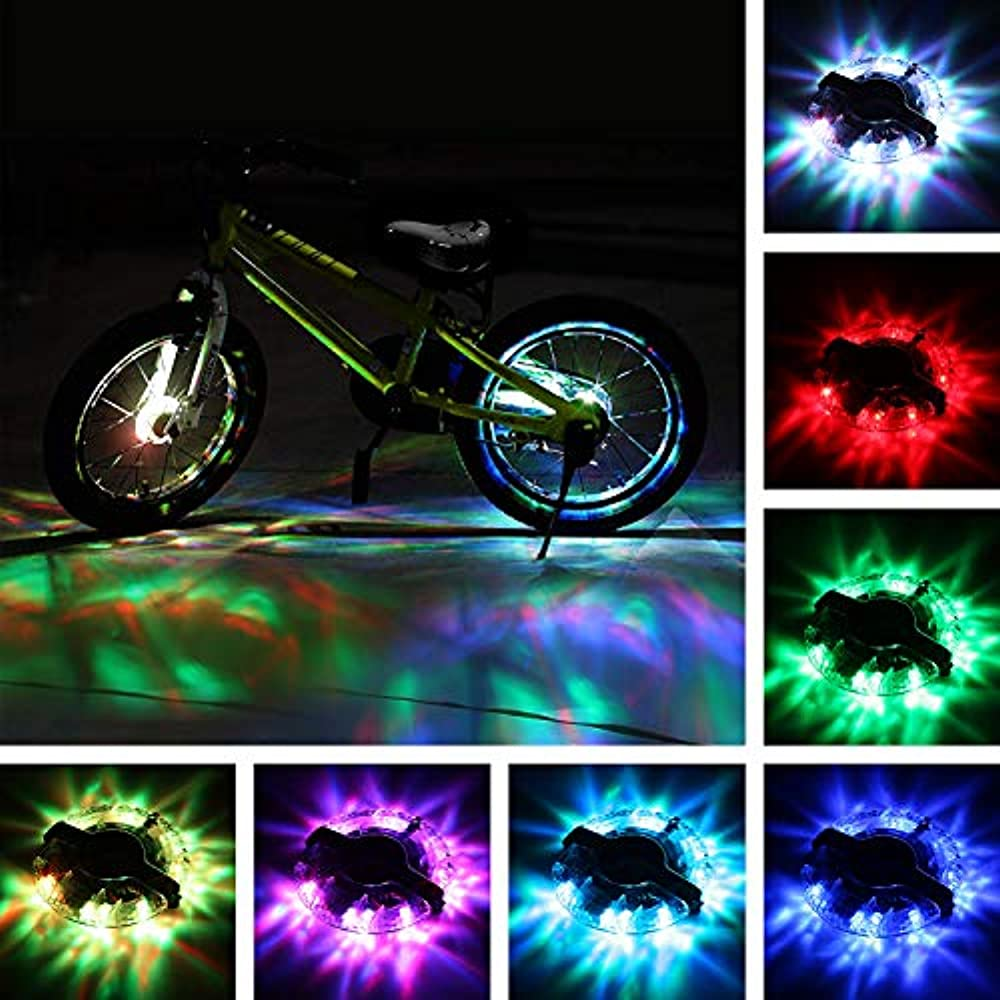 2 Pack Colorful Bright LED Bicycle Spoke Lights Bike Wheels Decoration 2 pieces