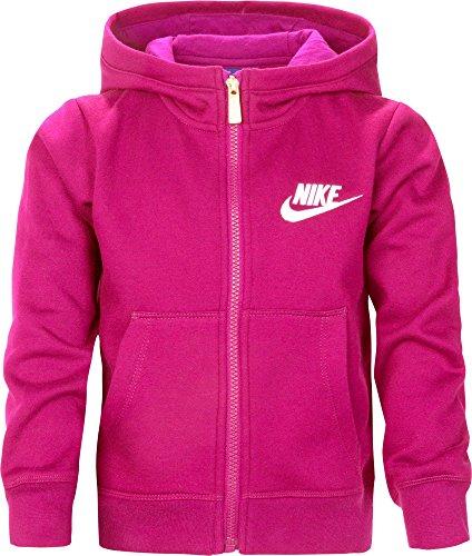 (Nike Little Girls' Club Graphic Full Zip Hoodie (Rush Pink, 4))