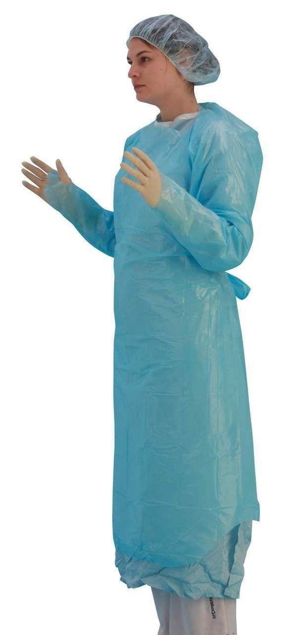 Premier 5530 - Pulgar desechable de manga larga, protección de líquidos, color azul: Amazon.es: Salud y cuidado personal