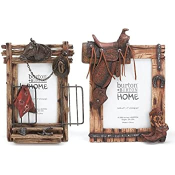 Set of 2 Horse & Western Themed Picture Frame